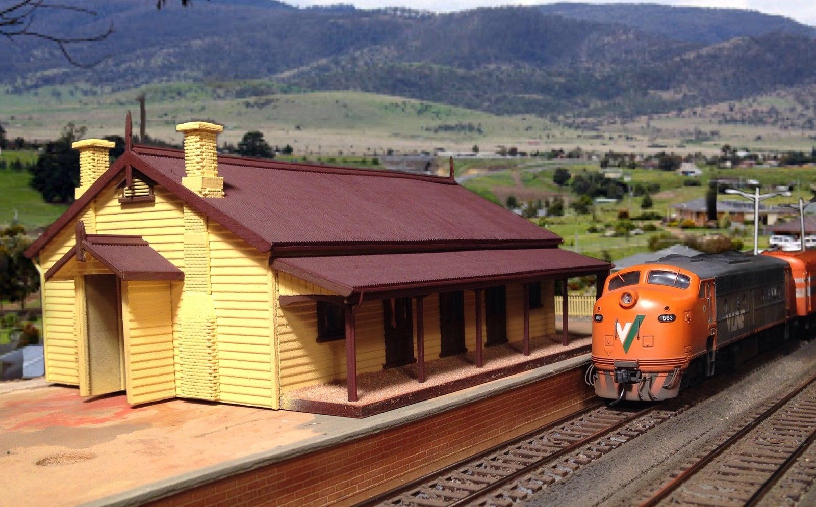 photograph about Printable Model Railroad Buildings identify VR station package Tylden Ho scale creating.