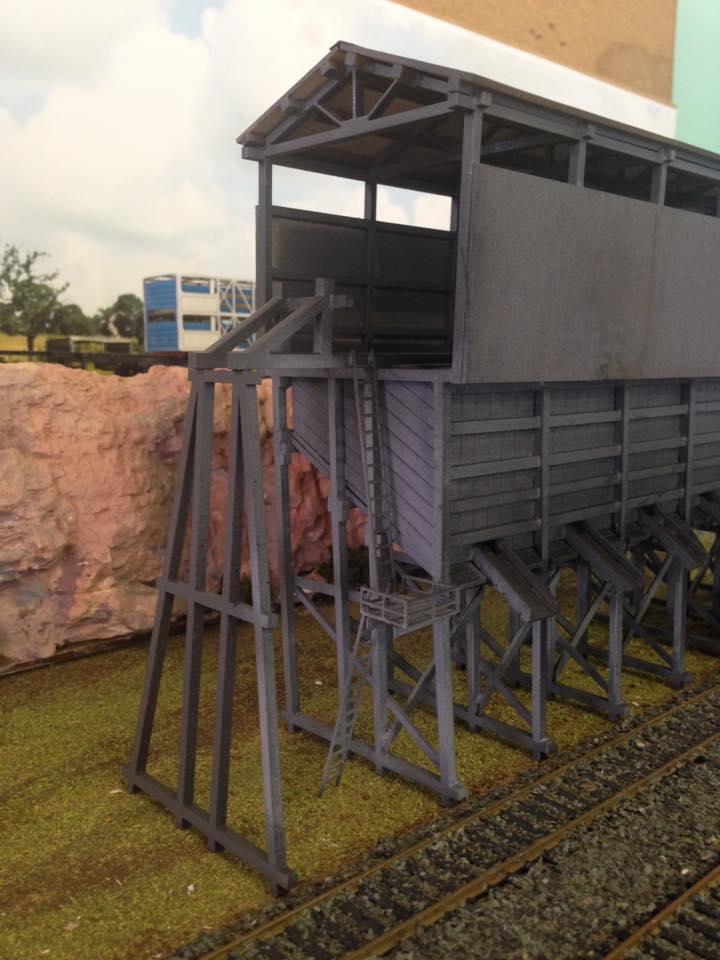 Ho 1/87 Scale Coal bunker Thirroul NSW, laser cut building kit
