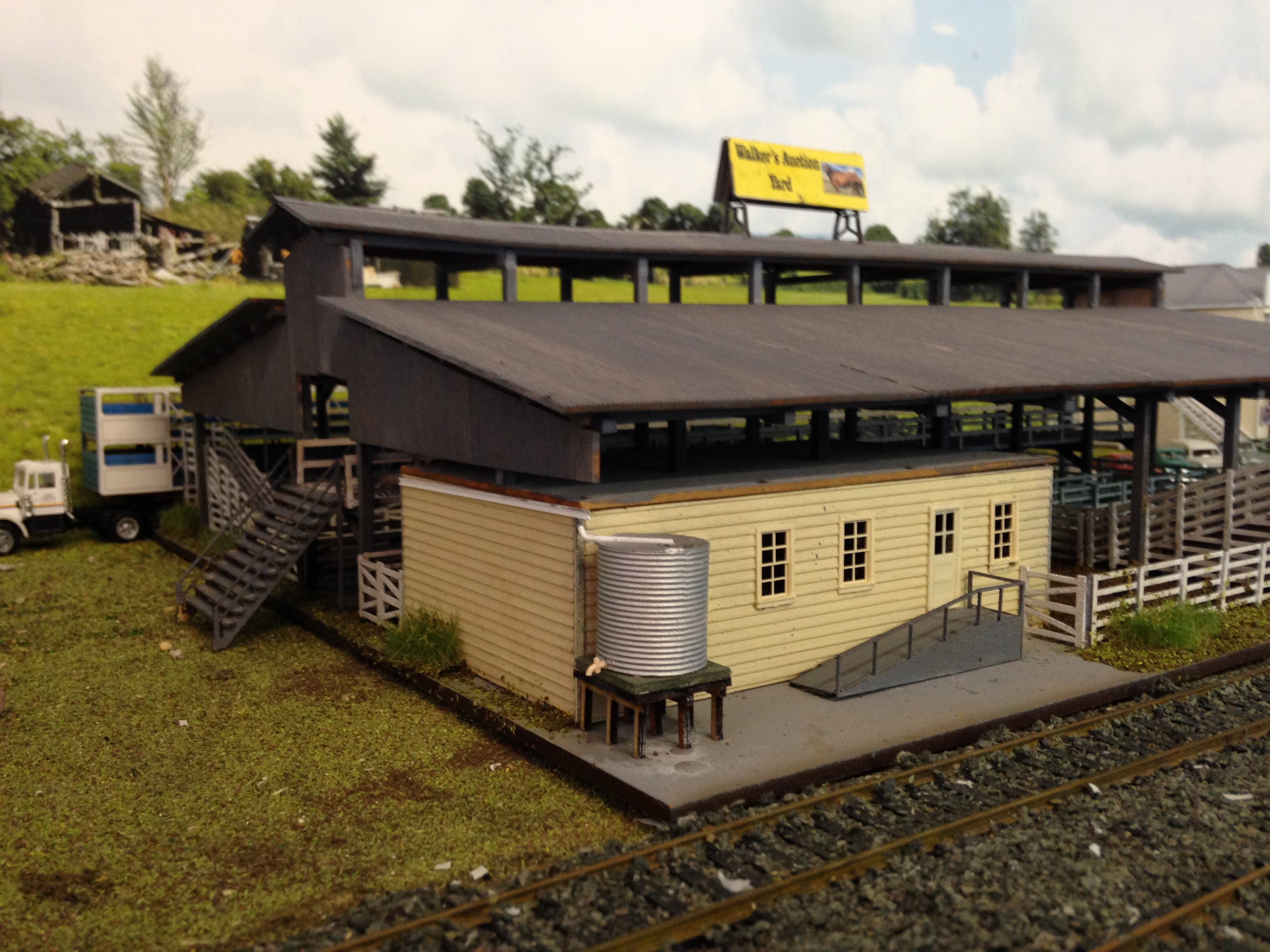 Ho 1/87 Scale Cattle auction sale yards with office, laser cut timber  building kit